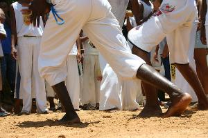 Foot blisters can come from playing capoeira bare-foot