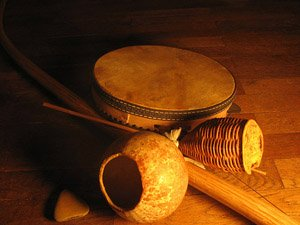 A couple capoeira instruments of Brazil