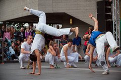 Capoeira moves in action