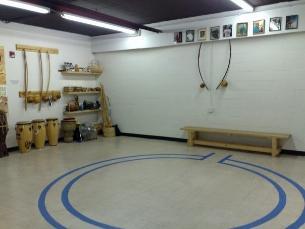 The capoeira roda where the jogo takes place